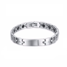 Fashionable custom stainless steel couplelifetrons health bracelet jewelry