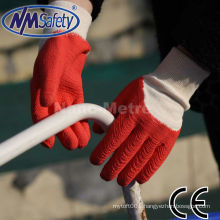 NMSAFETY best selling gloves red rubber work glove for working in the outside