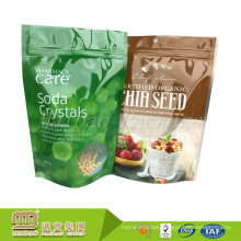 Food Grade Packaging Custom New Design Printing Standup Pouch Bag With Zipper And Window