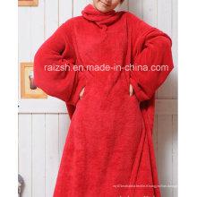Snuggie en laine de corail de couleur solide de haute qualité pour adultes
