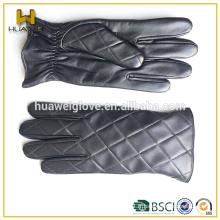 Gants de golf en cuir noir et hiver en cuir Gants en cuir pour hommes
