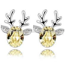 Vente en gros de boucles d'oreille en forme de cerf avec cristal autrichien