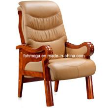 Chaise de bureau en chêne en bois massif en bois beige (FOH-F03)