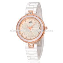 Jinhua reloj de cerámica blanca fina reloj de prueba de agua