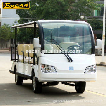EXCAR 11 seater electric tour car go kart electric Sightseeing passenger bus