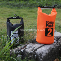 Multicolor logotipo personalizado impermeable Roll Top PVC 2L bolsa seca