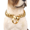 Factory Drop Shipping 14mm Bully Dog Accessories Stainless Steel Dog Chain 18k Gold  Pet Collar For Pet Training