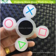 Wholesale Sillicone Glow in Dark Fidget Symbol Hand Spinner Adhd EDC Focus Anxiety Toy