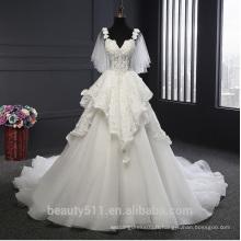 Robe de mariée Astergarden A-ligne Ceintures d'épaule Robe de mariée sans manches ROUGE TS215