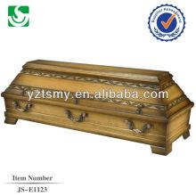 boîte de cercueil en acajou massif de vente chaude