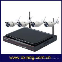 10 pulgadas de pantalla LCD HD 1080p cámara IP de detección de movimiento wifi cámara de seguridad WIFI NVR KIT