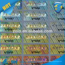 Hochwertige Laserdruck-Punktmatrix 3d Hologramm-kundenspezifischer Aufkleber holographisches Aufkleber mit 12000 dpi