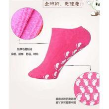 Calcetines de tobillo antideslizantes de algodón natural