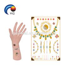 Серебряный и металлический стикер татуировки,стикер татуировки племени невесты
