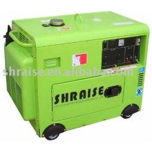 Air cooled silent diesel welder with generator