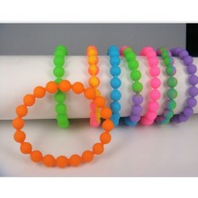 Rubber Beaded Bracelet, Fashion Silicone Wristband (GZHY-SW-018)