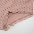 ropa interior de mujer de algodón orgánico con estampado de logotipo privado personalizado