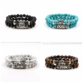 Lava stone Friendship Bracelets 2pcs