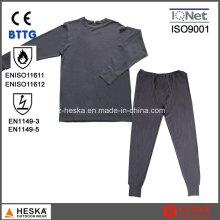 Malha de algodão retardante de chamas En11612 protetora Fr cueca