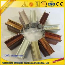 Perfil de alumínio Electrophoretic da grão de madeira da pintura de cristal do nível superior