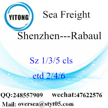 Shenzhen Port LCL Consolidation To Rabaul