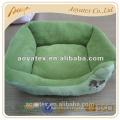 100% polyester peluche lit pour chiens