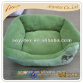 100% polyester plush pet bed for dogs