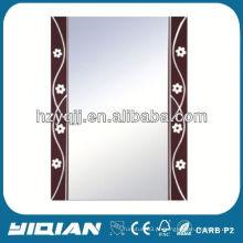 Novo design Hangzhou Bathroom pintado à mão Silver Rectangle Mirror