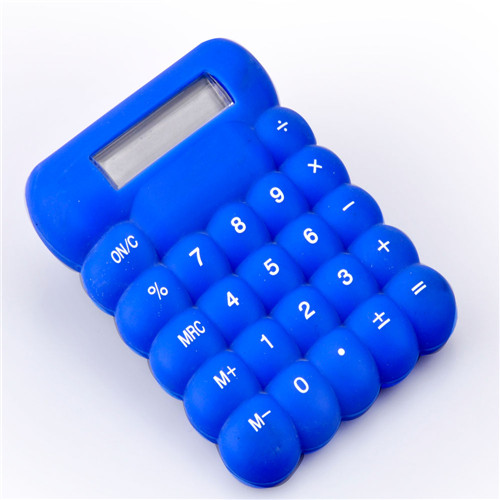 pocket size silicone calculator