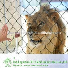 2015 alibaba china Herstellung Edelstahl 304 Seil Mesh Netz für Tiere billig Fechten