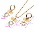 60535-Xuping Fashion Woman Brass Jewelry Set with 18K Gold Plated