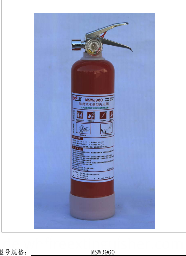 Security & Protection Fire Extinguisher