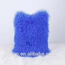 2018 Venta al por mayor Mongolian Lamb Fur Soft Wool Throw Pillow Case