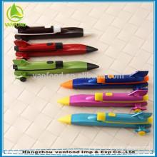 Good quality plane shape cartoon pen for children gift
