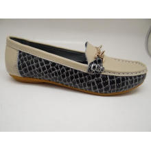 Sapatos de couro de lazer Lates mulheres sapatos de couro casual (SF013)