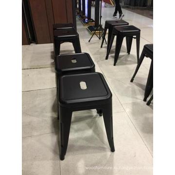 Современный дизайн мебели красочный металлический барный стул высокого ног