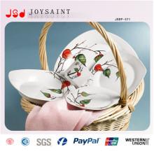 Ensemble de dîner carré à la vente chaude (JSD116-S011)