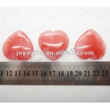 35MM Sandía de la forma del corazón Cristal, alto pulido, alta calidad, piedra natural de la forma del corazón