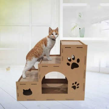 grattoir de chat maison en carton