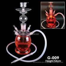 Hochwertige Shisha China Shisha Glas Wasserpfeife Shisha mit LED