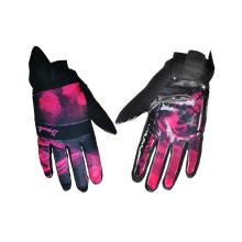 Gant de ski imperméable à l'eau, gant de ski en fourrure longue portée en cuir (5)