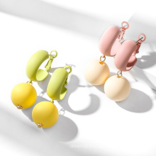 New fashion jewelry 925 Silver Cute Pink and Green earrings