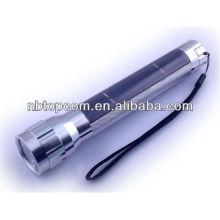 Liga de alumínio portátil lanterna solar recarregável para brindes promocionais