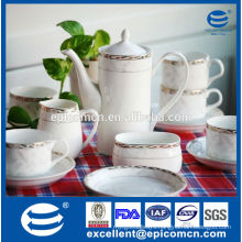 high quality new bone china coffee set with gold decal