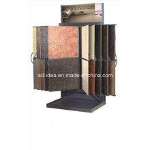 Custom Wing Style Tile Granite Flooring Showroom Display Rack