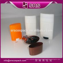 SRS alta qualidade cosméticos desodorante vara recipiente, plástico 15g 50g 75g sólido perfume recipientes