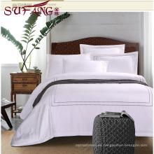 Hotel de 5 estrellas de lujo Conjuntos de bordado directo 100% algodón 60s / 40s / 80s