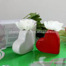 2014 diffuseur de porcelaine en forme de coeur populaire avec fleur sèche P-005
