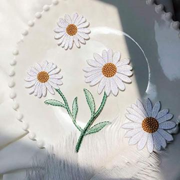 Parches bordados flores floral lron on
