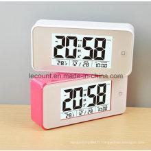 Horloge numérique à cristaux liquides avec rétro-éclairage (LC845)